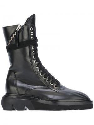 Ботинки на шнуровке Cinzia Araia. Цвет: чёрный