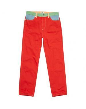 Джинсовые брюки WRANGLER by PETER MAX. Цвет: красный
