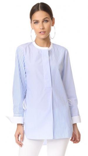 Блуза с округлым вырезом Edition10. Цвет: синий/белый