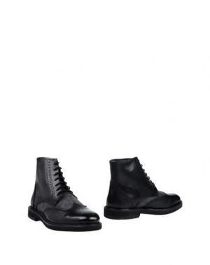 Полусапоги и высокие ботинки DIMATTIA. Цвет: черный