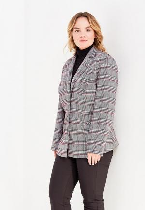 Пиджак Авантюра Plus Size Fashion. Цвет: серый