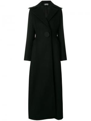 Длинное приталенное пальто Jacquemus. Цвет: чёрный