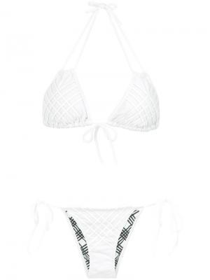 Panelled bikini set Amir Slama. Цвет: белый