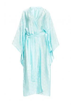 Халат из шелка с поясом 149427 Shams. Цвет: синий