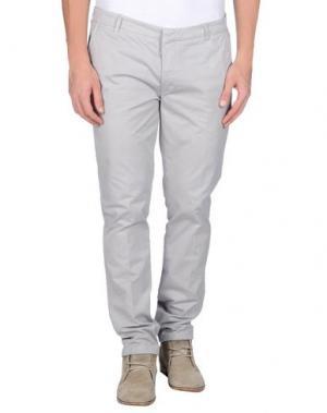 Повседневные брюки MANUEL RITZ WHITE. Цвет: светло-серый