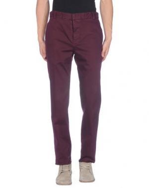 Повседневные брюки GENTRYPORTOFINO. Цвет: баклажанный