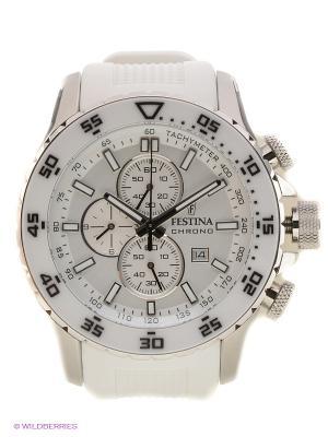 Часы Festina. Цвет: серебристый, белый