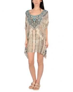 Пляжное платье CAMILLA. Цвет: бежевый