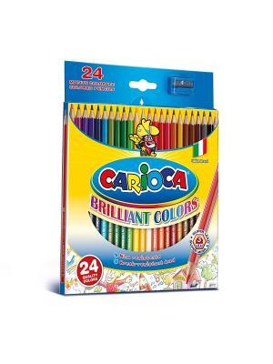 Набор карандашей цветных CARIOCA, 24 цв Universal. Цвет: синий