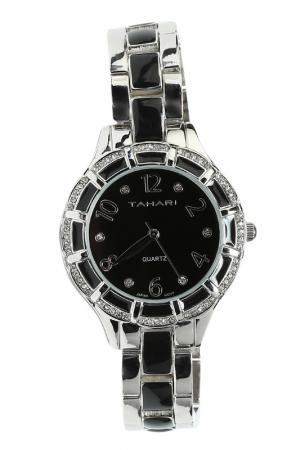 Часы TAHARI. Цвет: silver, black