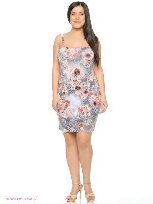 Сарафан Mojo Collection. Цвет: серый, розовый
