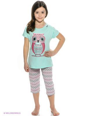 Пижама Vis-a-vis. Цвет: бирюзовый, розовый