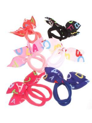 Резинки с ушками Радужки. Цвет: черный, зеленый, розовый