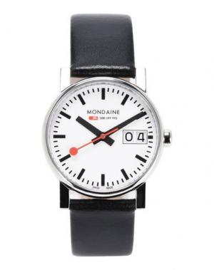 Наручные часы MONDAINE. Цвет: черный