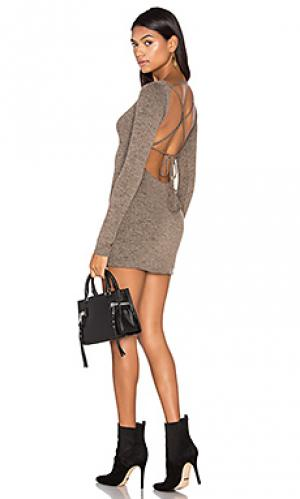 Платье marina Riller & Fount. Цвет: коричневый