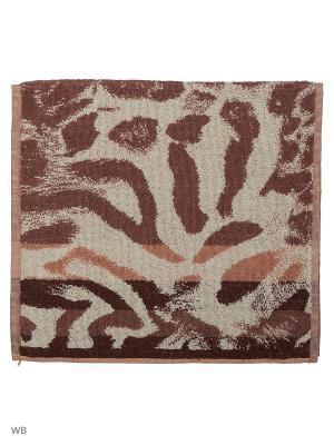 Полотенце махровое пестротканое жаккардовое Этнос Авангард. Цвет: темно-коричневый, бежевый