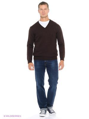 Пуловер Fine Joyce. Цвет: темно-коричневый