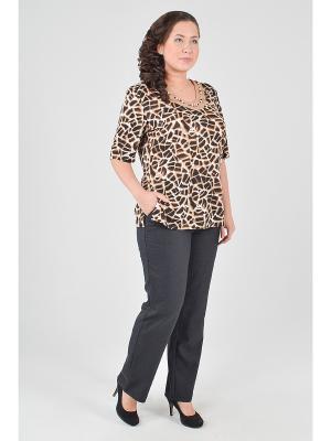 Блузка Gabriela. Цвет: коричневый, темно-бежевый