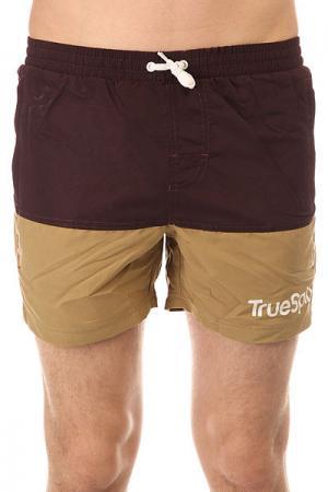 Шорты пляжные  Core Shorts Brown/Wheat TrueSpin. Цвет: фиолетовый,бежевый
