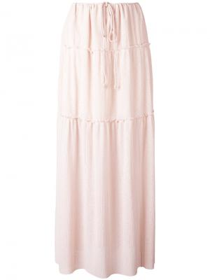 Длинная плиссированная юбка See By Chloé. Цвет: розовый и фиолетовый