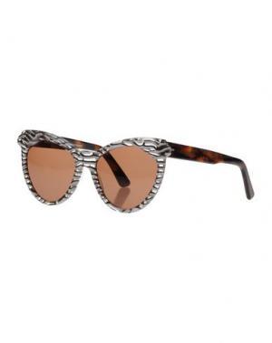 Солнечные очки ZANZAN. Цвет: темно-коричневый