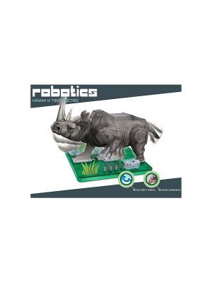 Научный опыт Носорог на батарейках, в коробке Amazing Toys. Цвет: зеленый, темно-зеленый, темно-серый