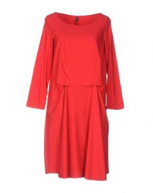 Платье до колена CORINNA CAON. Цвет: красный