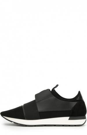 Комбинированные кроссовки с эластичной лентой Balenciaga. Цвет: черный