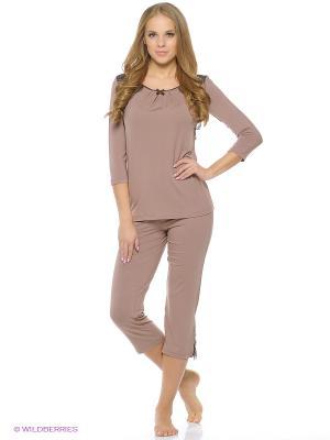 Фуфайка пижамная женская Milavitsa. Цвет: розовый