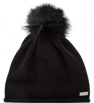 Черная шапка с помпоном Capo. Цвет: черный
