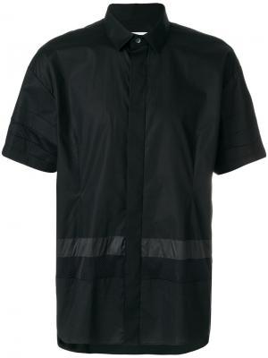 Рубашка с короткими рукавами Les Hommes Urban. Цвет: чёрный
