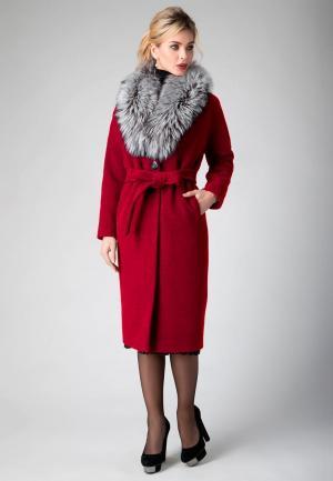 Пальто Electrastyle. Цвет: красный