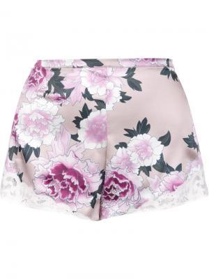 Кружевные шорты Charlotte Fleur Du Mal. Цвет: розовый и фиолетовый