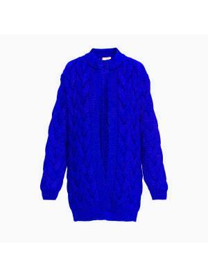 Кардиган Queen Bae Wooly's. Цвет: синий