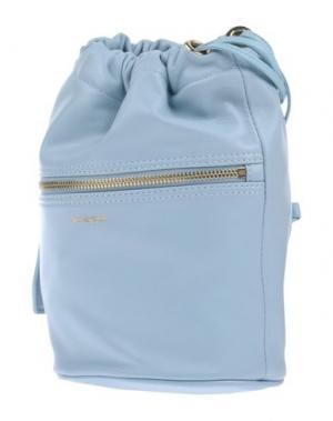 Рюкзаки и сумки на пояс PINKO. Цвет: небесно-голубой
