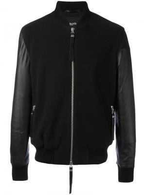 Куртка-бомбер Alpha II Blood Brother. Цвет: чёрный