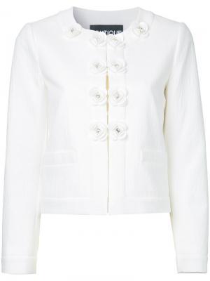 Пиджак с декоративными пуговицами Boutique Moschino. Цвет: белый