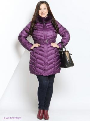 Пальто Vlasta. Цвет: фиолетовый