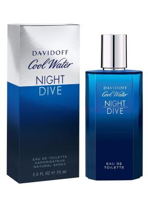 Туалетная вода Cool Water Night Dive, 75 мл DAVIDOFF. Цвет: синий