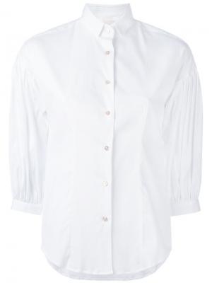 Рубашка с укороченными рукавами Xacus. Цвет: белый