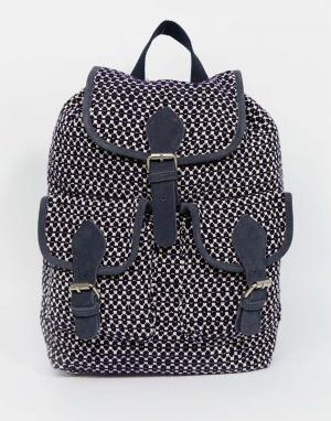 Becksondergaard Жаккардовый рюкзак с кисточками. Цвет: темно-синий