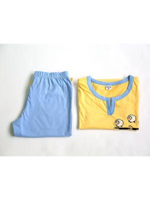 Пижама Proto. Цвет: голубой, желтый