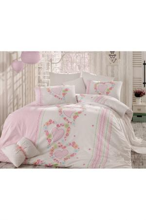 Cover set Majoli Bahar Home Collection. Цвет: pink and white