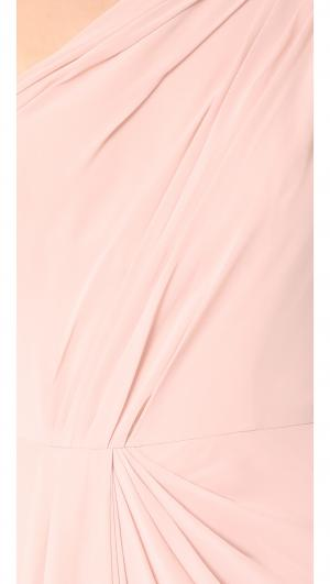 One Shoulder Drape Gown Monique Lhuillier Bridesmaids