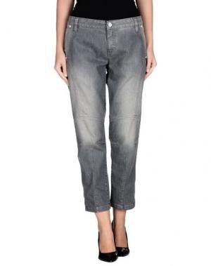 Джинсовые брюки ONE STEP. Цвет: серый