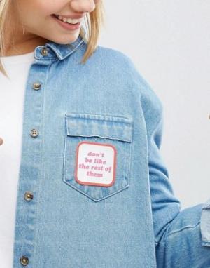 Kitsch Нашивка с надписью Dont Be Like Rest Of m. Цвет: мульти