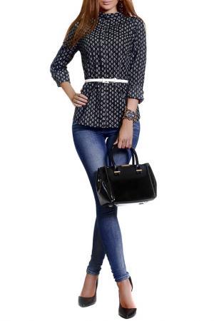 Блузка FRANCESCA LUCINI. Цвет: анталия, черный