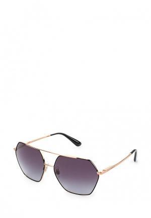 Очки солнцезащитные Dolce&Gabbana. Цвет: золотой