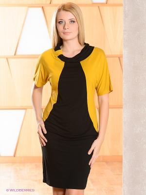 Платье МадаМ Т. Цвет: черный, горчичный