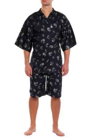 Пижама: брюки и кофта Maori. Цвет: синий